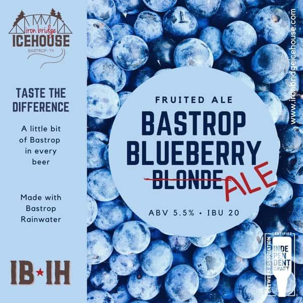 7. Bastrop Blueberry™ Ale 5.5% | 20 IBU
