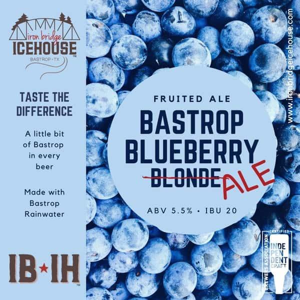 7. Bastrop Blueberry™ Ale 5.5%   20 IBU
