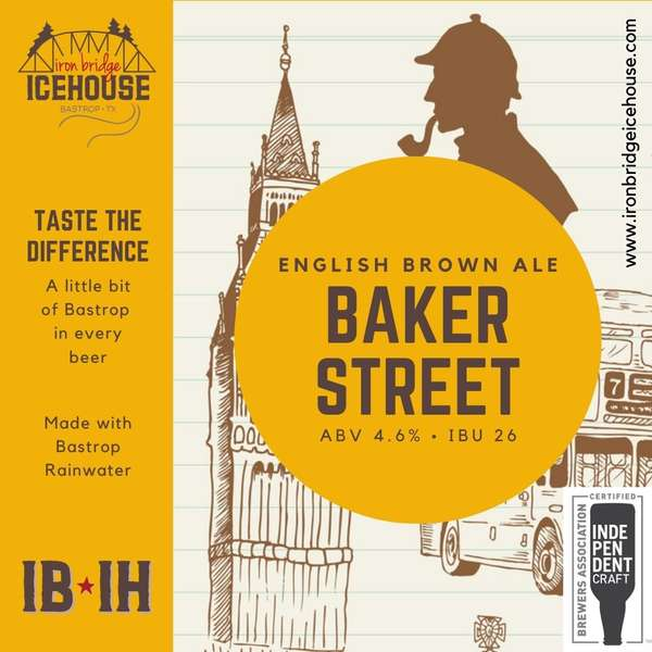 11. Baker Street™ English Brown Ale 4.6% | 22 IBU