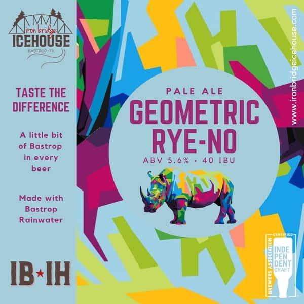 3. Geometric Rye-no™ 5.6% | 40 IBU