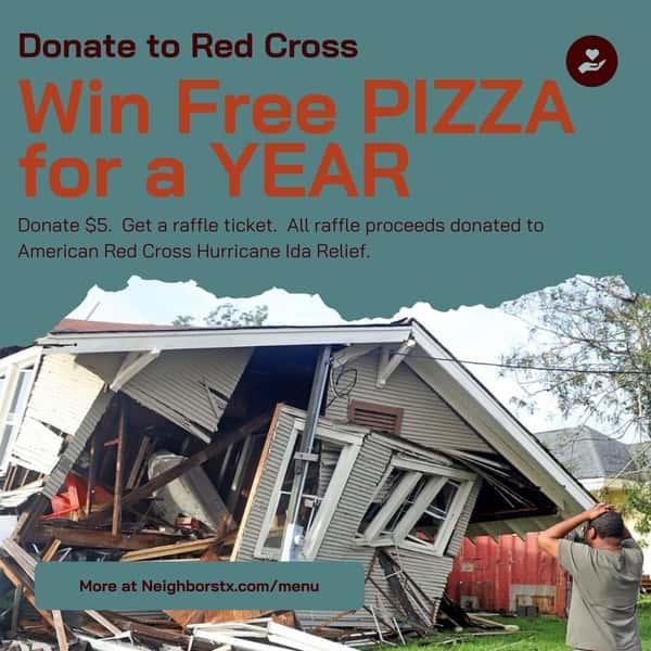 Raffle Ticket - Win FREE PIZZA - Help Ida Victims
