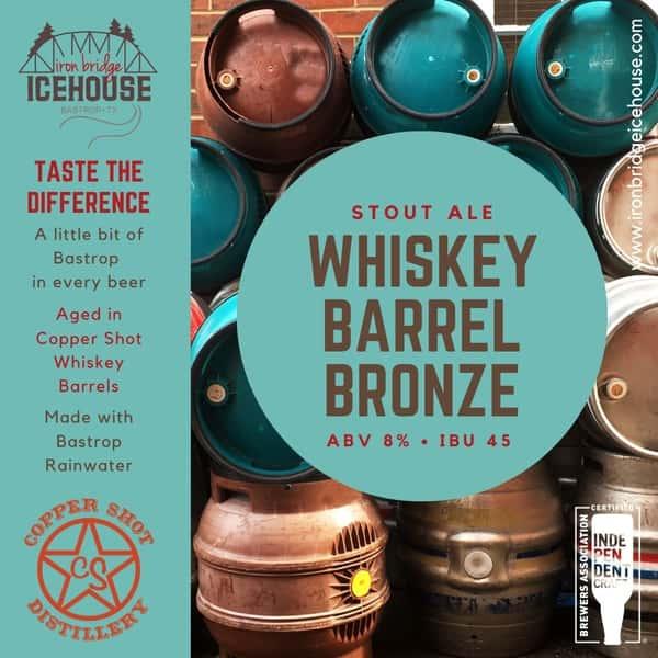 10. Whiskey Barrel Bronze™ 8.0% | 45 IBU