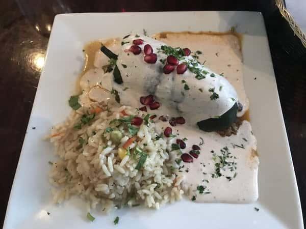 dish with sauce