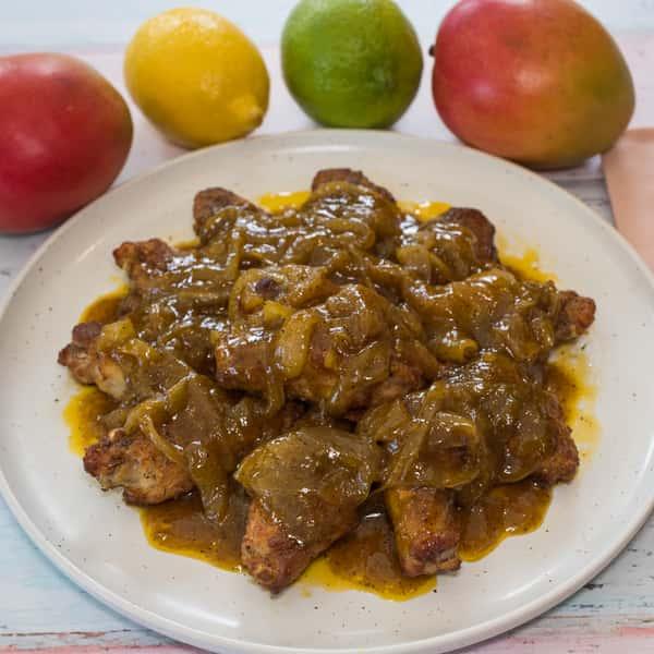 Mango glazed wings