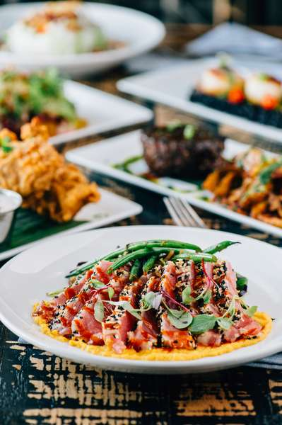 Multiple meal menu options at mad chef kitchen & bar