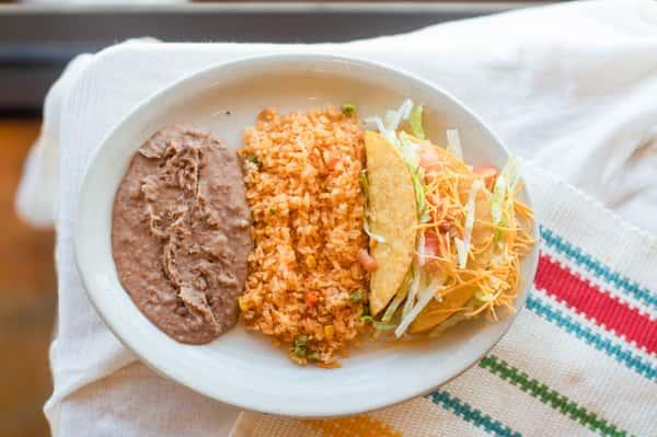 #2 Crispy Taco Plate
