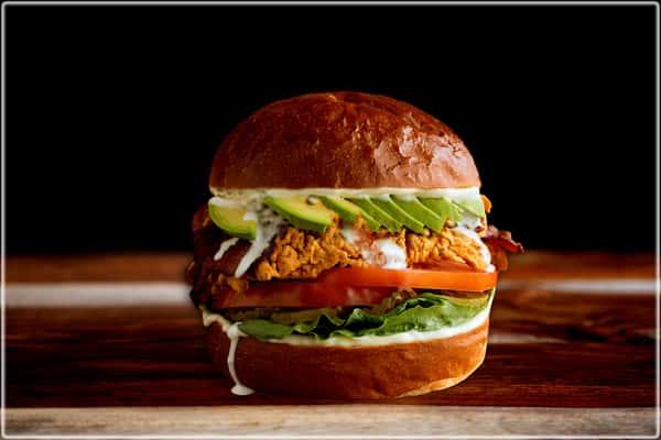 Bacon Avocado Chicken Burger