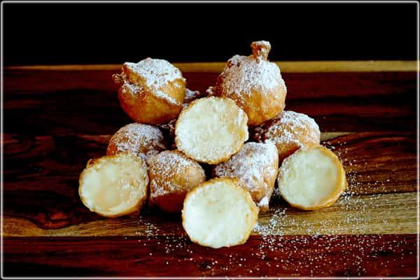 Fried Cheese Cake Bites