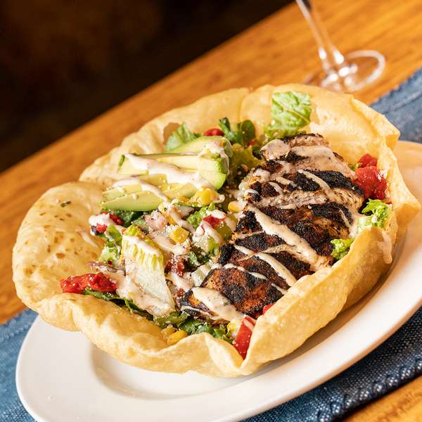 Cajun Chicken Street Corn Taco Salad