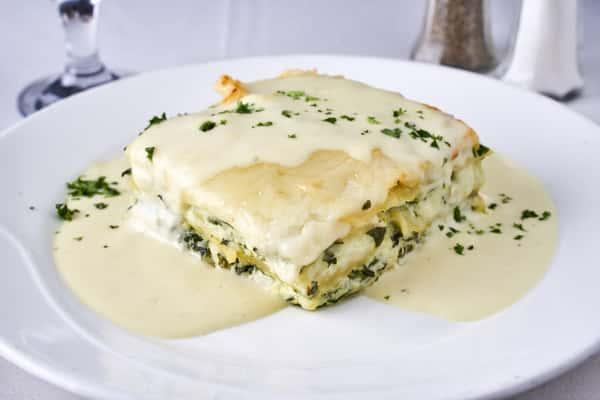 Menu #13 - Spinach Lasagna with Alfredo Sauce