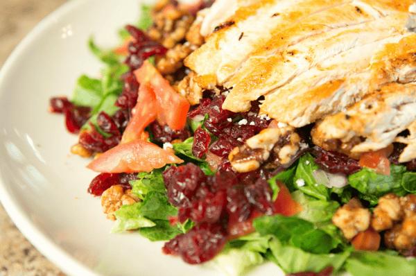 Chicken & Glazed Walnut Salad