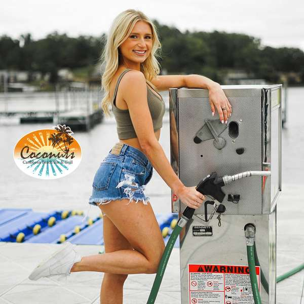 woman and gas dock