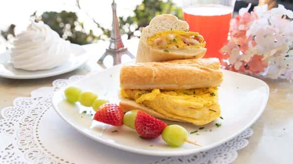 Eggs, Ham & Brie Breakfast Sandwich