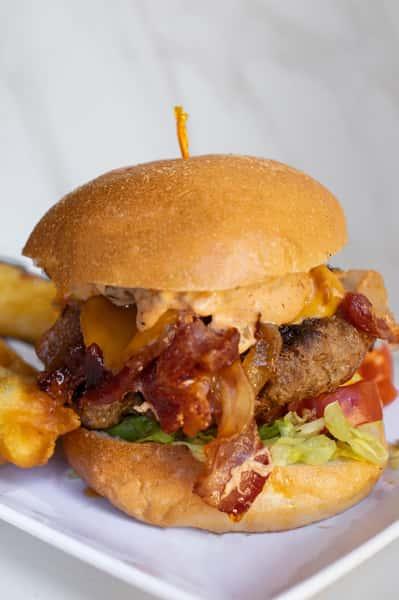 Maple Bacon Cheese Burger