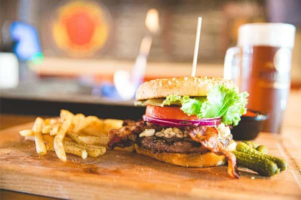bacon blue cheese burger