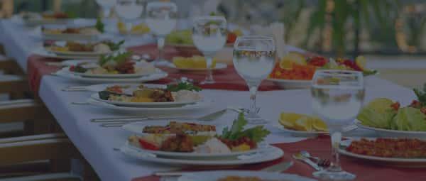 prepared table