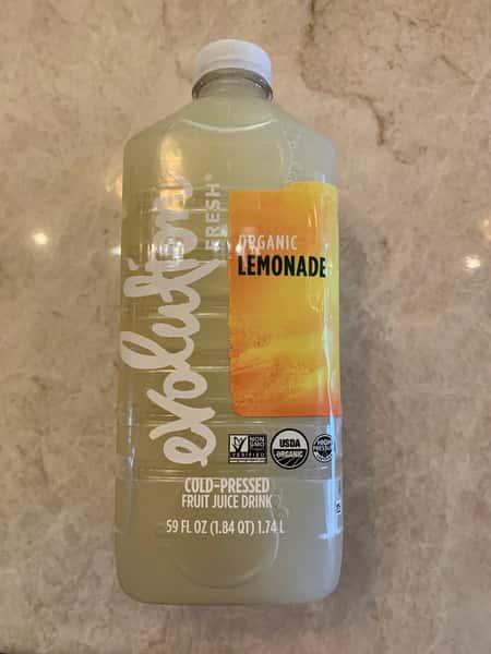 Fresh organic lemonade