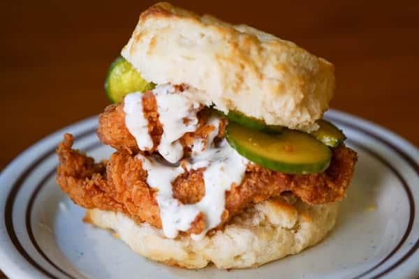 Chicken, Pickle & Ranch Biscuit