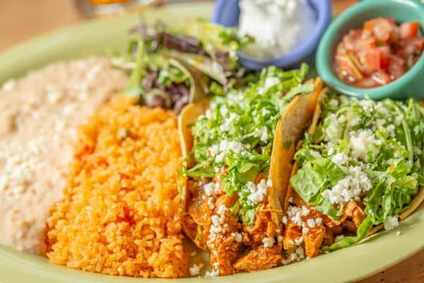 *Chicken Tinga Tacos (2)