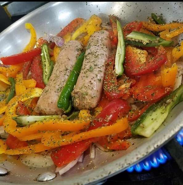 Italian Vegan Sausage Dinner