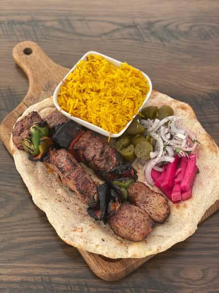 Veal Kebab Plate, (Tikka)