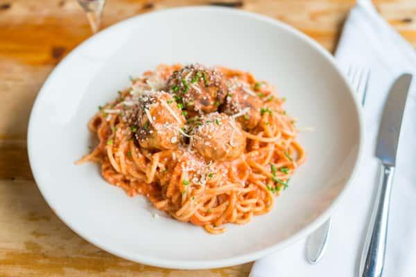 Mama D Meatball Spaghetti
