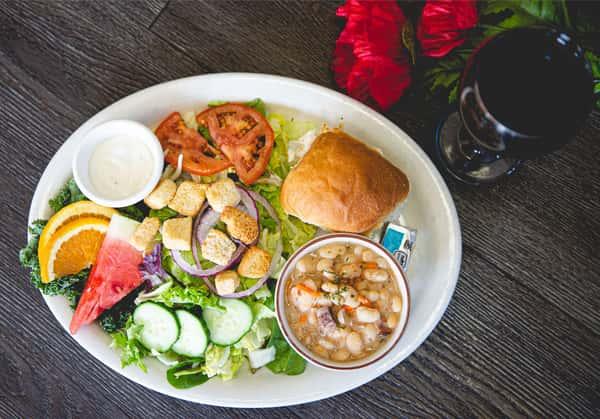 S.S.R (Soup, Salad & Roll)