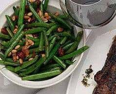 Green Beans, Pancetta, Pepper Flakes & Pine Nuts