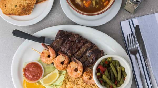 Goldenwest Ribeye & Shrimp dinner