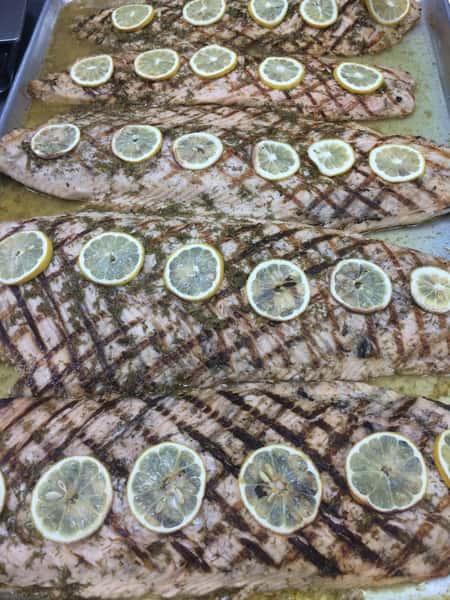 Grilled Salmon with Bourbon Glaze