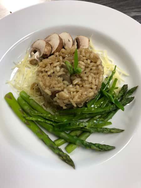 (Vegetarian Option) Mushroom and Parmesan Risotto