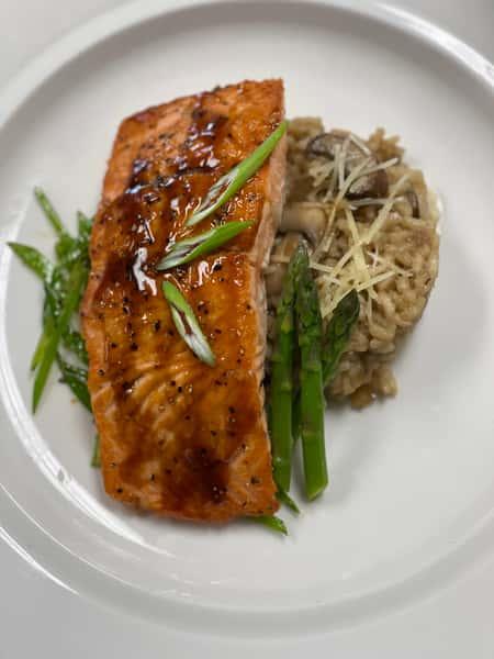 Hoisin Glazed Pan Seared Salmon