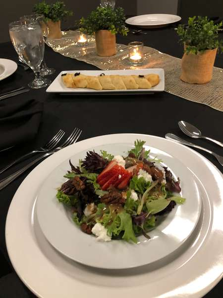 Goat Cheese and Strawberry Mixed Green Salad
