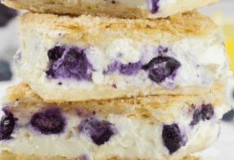 White Chocolate Blueberry Cheesecake Bar