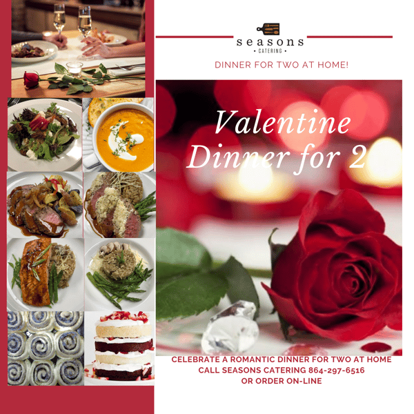 Valentine dinner for 2 gallery photo with red rose