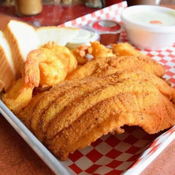 catfish and fried shrimp