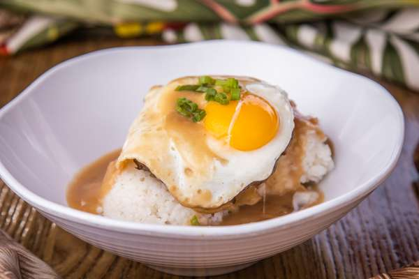 Rice and egg dish