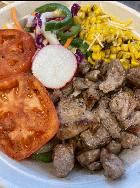 Our Signature Fully Loaded NY Strip Rice Bowl