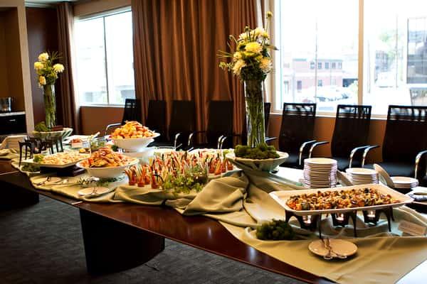 indoor buffet table