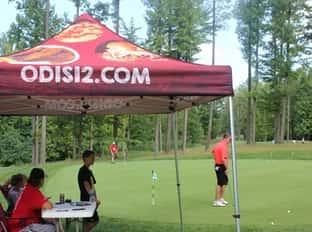 tent golfing