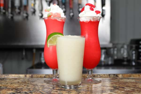 three frozen cocktails