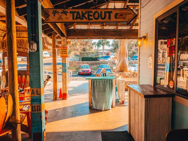 takeout area