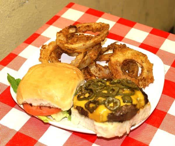 Jalapeño and Cheddar Burger