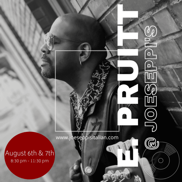 E Pruitt performing live at Joeseppi's Italian Ristorante in Tacoma, WA