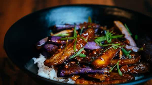 Sichuan Spicy Eggplant (vegan)