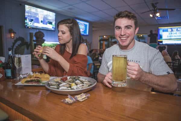 couple at the bar