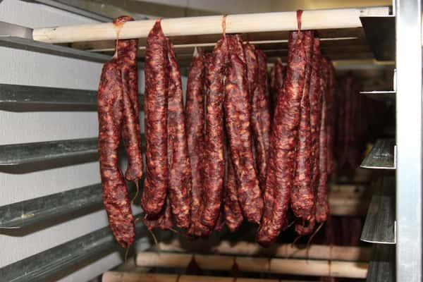 hanging sausage links