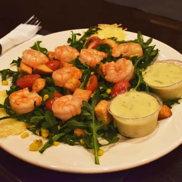 Grilled Shrimp & Arugula Salad