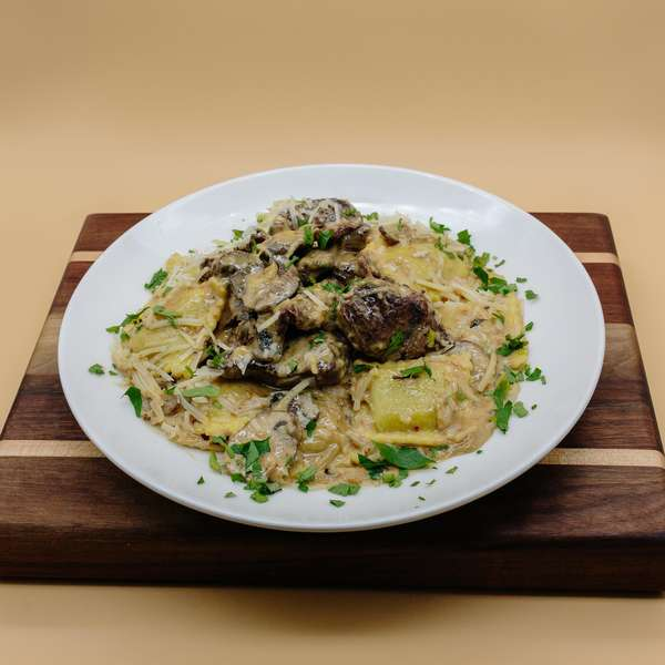 Wild Mushroom Ravioli & Beef Tenderloin Pasta
