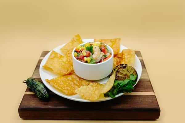 Grilled shrimp ceviche